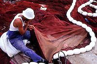 Maroc, Côte Atlantique, El Jadida, port de pêche // fishing harbour, El Jadida, Morocco