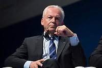 "03 MAY 2012, LEIPZIG/GERMANY:<br /> Ruediger Grube, Vorstandsvorsitzender Deutschen Bahn AG, Plenary: ""Transport for Growth: Developing Connectivity"", Internationales Transport Forum, CCL<br /> IMAGE: 20120503-01-009<br /> KEYWORDS: Rüdiger Grube"