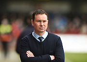 Plymouth manager Derek Adams during the Sky Bet League 2 match between Crawley Town and Plymouth Argyle at the Checkatrade.com Stadium, Crawley, England on 20 February 2016. Photo by David Charbit.