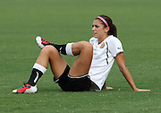 ATLANTA, GA - AUGUST 06:  Forward Alex Morgan #13 of the Western New York Flash stretches before the Women's Professional Soccer game between the Atlanta Beat and the Western New York Flash at Kennesaw State University Soccer Stadium on August 6, 2011 in Atlanta, Georgia.  (Photo by Mike Zarrilli/Getty Images)