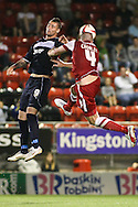 Picture by David Horn/Focus Images Ltd +44 7545 970036.21/08/2012.Ben Chorley (left) of Leyton Orient and Marcus Haber (right) of Stevenage during the npower League 1 match at the Matchroom Stadium, London.