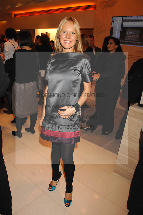 ALICE BAMFORD at a reception to launch the 2007 Louis Vuitton Christmas windows in collaboration with Central Saint Martins College of Art & Design held at 17-18 New Bond Street, London W1 on 7th November 2007.<br />