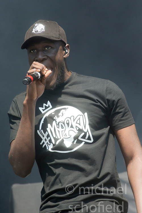 Stormzy play the main stage. Saturday at TRNSMT music festival, Glasgow Green.