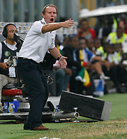 Photo: Steve Bond/Richard Lane Photography.<br />Ghana v Nigeria. Africa Cup of Nations. 03/02/2008. Bertie Vogts gets desperate