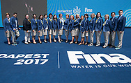 Judges <br /> Duet Free Final <br /> Synchronised swimming , Synchro<br /> 20/07/2017 <br /> XVII FINA World Championships Aquatics<br /> City Park - Varosliget Lake<br /> Budapest Hungary <br /> Photo Andrea Staccioli/Deepbluemedia/Insidefoto