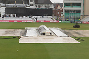 Rain continues to fall at Trent Bridge before the Vitality T20 Blast North Group match between Notts Outlaws and Leicestershire Foxes at Trent Bridge, West Bridgford, United Kingdom on 27 July 2019.