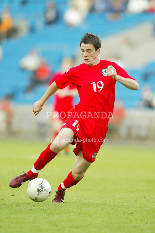 OSLO, NORWAY - Thursday, May 27, 2004:  Wales' Chris Llewelyn in action against Norway during the International Friendly match at the Ullevaal Stadium, Oslo, Norway. (Photo by David Rawcliffe/Propaganda)