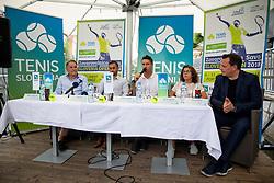 Marko Umberger, Aljaz Kos, Gregor Krusic, Anita Ogulin and Rado Mulej at Press conference before ATP Challenger Portoroz 2018, on July 17, 2018 in Ljubljana, Slovenia. Photo by Urban Urbanc / Sportida