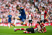 Chelsea (10) Eden Hazard, Southampton (11) Dušan Tadić during the The FA Cup match between Chelsea and Southampton at Wembley Stadium, London, England on 22 April 2018. Picture by Sebastian Frej.