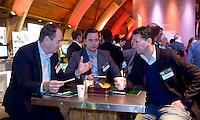 UTRECHT - Henk-Jan de Boer (International) ,  Boris Scheepers (Marvin Miles), A tribe called Golf, de kracht van de connectie. Nationaal Golf Congres van de NVG 2014 , Nederlandse Vereniging Golfbranche. COPYRIGHT KOEN SUYK