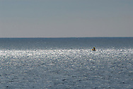Dominican fishermen fishing within the boundaries of the Silver Banks Marine Park, Dominican Republic, Caribbean Sea<br />