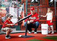 JJ Putz and Family photographed at Chase Field in Phoenix, Arizona on May 8, 2012.  (Photo by Jonathan Willey/Arizona Diamondbacks)