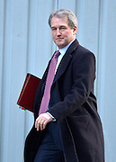 © Licensed to London News Pictures. 05/02/2013. Westminster, UK Environment Secretary.Owen Paterson Cabinet Ministers arrive for the weekly Cabinet meeting on 5th February 2013. Photo credit : Stephen Simpson/LNP