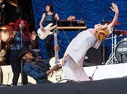Paloma Faith plays the main stage, Saturday, T in the Park 2013.<br /> &copy;Michael Schofield.