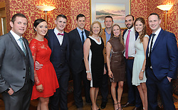 Pictured at the Westport GAA Club dinner dance at Hotel Westport were Keith McDermott, Laura Keane, Brian McDermott, Peter McDermott, Mary McDermott, Kevin Malone, Maria and Anthony Chappat, Grace and Paul McDermott<br /> Pic Conor McKeown