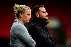 Tanya Oxtoby manager of Bristol City Women and Marco Chiavetta - Mandatory by-line: Ryan Hiscott/JMP - 07/09/2019 - FOOTBALL - Ashton Gate - Bristol, England - Bristol City Women v Brighton and Hove Albion Women - FA Women's Super League