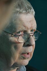 Thomas Skidmore, historiador americano especializado em politica brasileira durante coletiva de imprensa no Hotel Sheraton, em Porto Alegre. Foto: Jefferson Bernardes / Preview.com