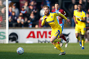 Wimbledon midfielder Scott Wagstaff (7)  during the EFL Sky Bet League 1 match between Scunthorpe United and AFC Wimbledon at Glanford Park, Scunthorpe, England on 30 March 2019.