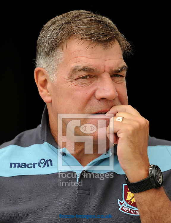 Picture by Andrew Timms/Focus Images Ltd +44 7917 236526.21/07/2012.Manager of West Ham United, Sam Allardyce during the Friendly match against Colchester United at the Weston Homes Community Stadium, Colchester.