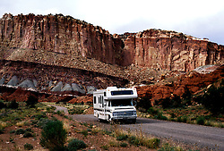 Utah: RV Travel, lifestyle, vacation, horizontal scenic .Photo copyright Lee Foster, www.fostertravel.com..Photo #: rvlife101, 510/549-2202, lee@fostertravel.com