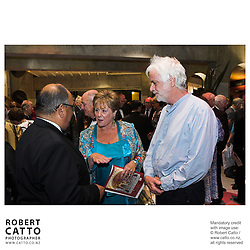 Anand Satyanand;Ross Harris at the NZSO 60th Anniversary Concert at Michael Fowler Centre, Wellington, New Zealand.