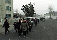North Korea Eye Surgery Workshop. Patients and families make their way to the Haeju hospital from their guest houses provided to them from the government in the centre of Haeju. Haeju is concidered one of the poorest areas in North Korea as it is primarily an agricultural region.