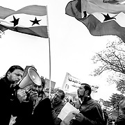 Protest In Kansas City against Syria's Bashar Al-Assad regime.