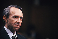 Supreme Court Justice David Souter at his confirmation hearing in October 1990.<br /> Photo by Dennis Brack