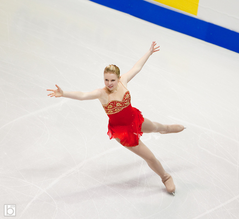 Nov 15, 2009: Rachael Flatt of the United States skates in the Ladies Free Skate competition at Skate America 2009 at the Herb Brooks Arena in Lake Placid, N.Y. (ORDA Photo /Todd Bissonette)
