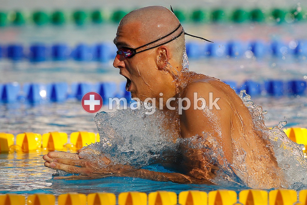 Laszlo CSEH of Hungary swims on the Breaststroke leg in the men's 200m Individual Medley (IM) Semifinal 2 at the European Swimming Championship at the Hajos Alfred Swimming complex in Budapest, Hungary, Tuesday, Aug. 10, 2010. (Photo by Patrick B. Kraemer / MAGICPBK)