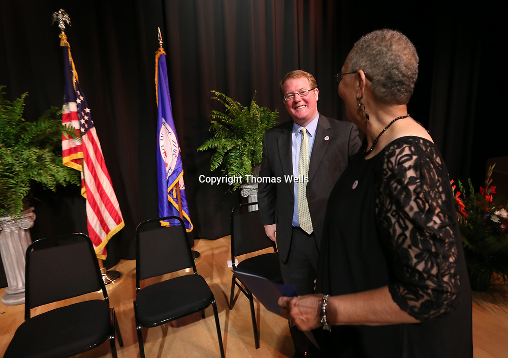 Tupelo Mayor Jason Shelton has a big smile after he and the entire City Council of Tupelo were sworn in for a second term on Thursday.
