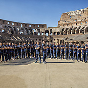 Rome 30/01/2018 <br /> Italy national team at the Colosseum
