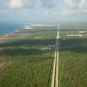 Riviera Maya highway. Quintana Roo, Mexico.