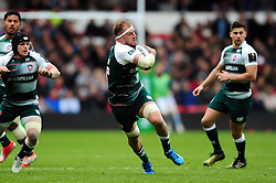 Lachlan McCaffrey of Leicester Tigers in possession - Mandatory byline: Patrick Khachfe/JMP - 07966 386802 - 24/04/2016 - RUGBY UNION - The City Ground - Nottingham, England - Leicester Tigers v Racing 92 - European Rugby Champions Cup Semi Final.