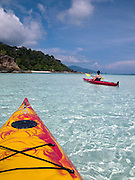Kayaking in Tarutao, Thailand.