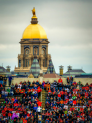SOUTH BEND, IN - JANUARY 1: during the Boston Bruins and Chicago Blackhawks Winter Classic NHL game on January 1, 2019, at Notre Dame Stadium in South Bend, IN. (Photo by John Crouch/Icon Sportswire)