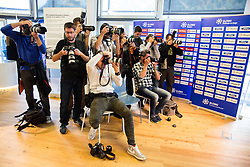Photographers during official presentation of the outfits of the Slovenian Ski Teams before new season 2016/17, on October 18, 2016 in Planica, Slovenia. Photo by Vid Ponikvar / Sportida