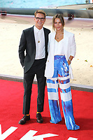 Oliver Proudlock, Emma Louise Connolly, Dunkirk - World film premiere, Leicester Square Gardens, London UK, 13 July 2017, Allied soldiers from Belgium, the British Empire, Canada, and France are surrounded by the German army and evacuated during a fierce battle in World War II.