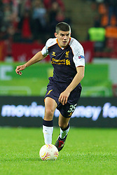 MOSCOW, RUSSIA - Thursday, November 8, 2012: Liverpool's Conor Coady in action against FC Anji Makhachkala during the UEFA Europa League Group A match at the Lokomotiv Stadium. (Pic by David Rawcliffe/Propaganda)
