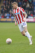 Stoke City midfielder James McClean (11) during the The FA Cup 3rd round match between Shrewsbury Town and Stoke City at Greenhous Meadow, Shrewsbury, England on 5 January 2019.