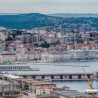 View of the Rive and Piazza dell'Unità d'ITalia in Trieste, ITaly