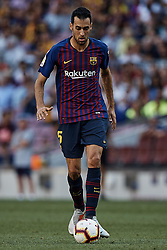 September 29, 2018 - Barcelona, Barcelona, Spain - Sergio Busquets of FC Barcelona in action during the La Liga match between FC Barcelona and Athletic Club de Bilbao at Camp Nou on September 29, 2018 in Barcelona, Spain  (Credit Image: © David Aliaga/NurPhoto/ZUMA Press)