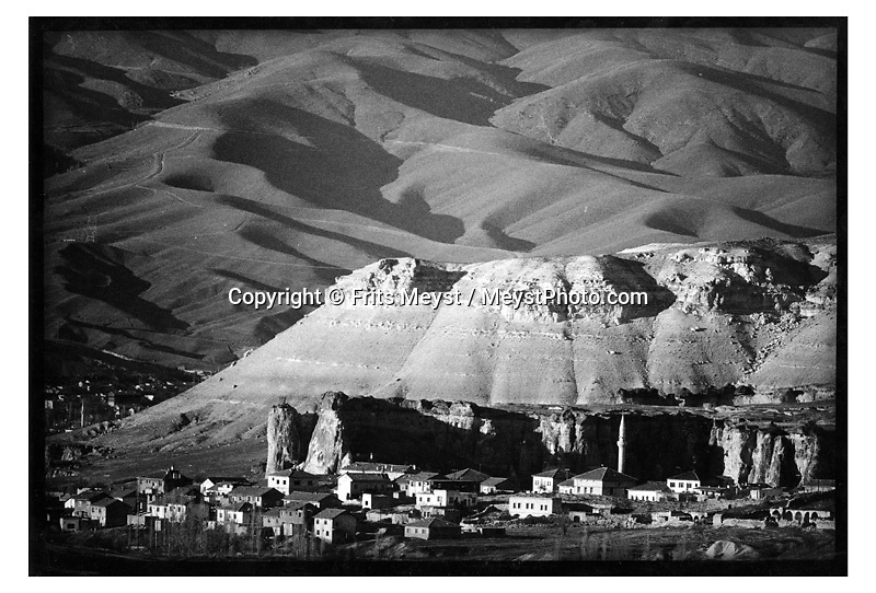 CAVUSIN, CAPPADOCIA, TURKEY, 2000. Traditional life in Cappadocia has come under heavy strain, due to the increased tourism. the young generation is not interested in working the fields if they can work in a carpetshop, restaurant or bar. Therefore centuries old skills and habits will die with the elderly. Cappadocia is knowns for its landscape with conical shaped rock formations and cave dwellings in which the local people live. ©Photo by Frits Meyst/Adventure4ever.com