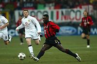 Milan 08-03-2005<br />Champions League 2004-2005<br />Milan Manchester United<br />nella  foto Seedorf<br />Foto Snapshot / Graffiti