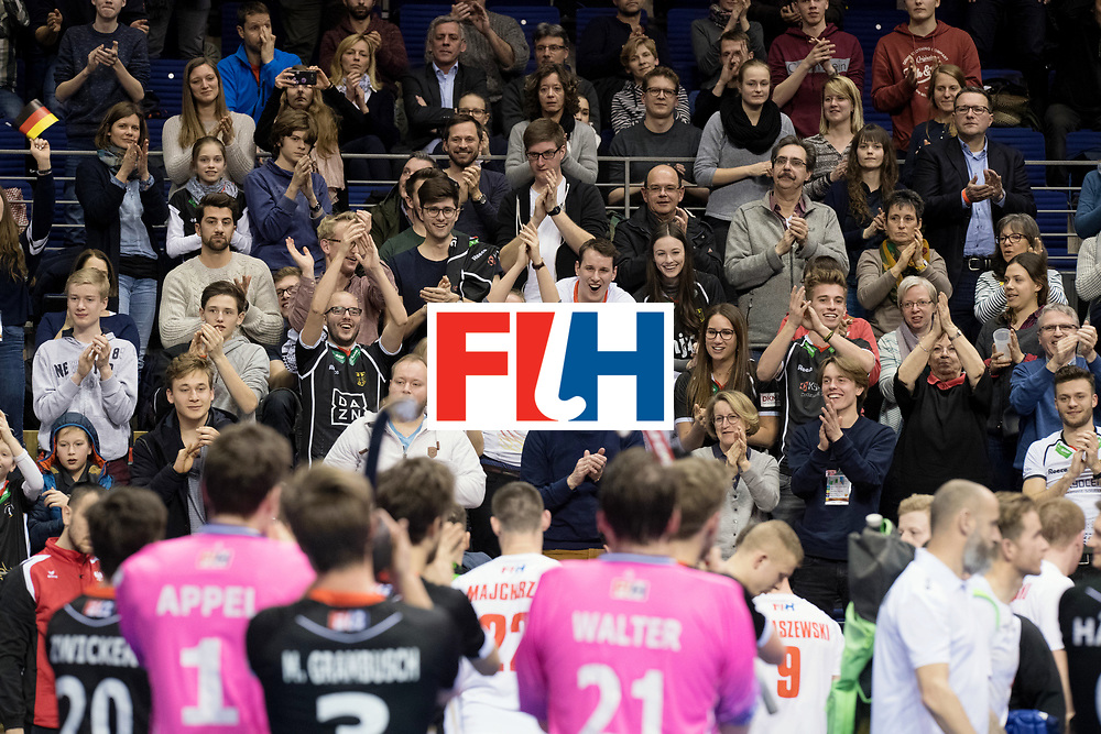 BERLIN - Indoor Hockey World Cup<br /> Men: Poland - Germany<br /> foto: German fans.<br /> WORLDSPORTPICS COPYRIGHT FRANK UIJLENBROEK