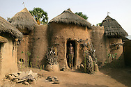 Koutammakou, the Land of the Batammariba is a cultural landscape designated in 2004 as a UNESCO World Heritage Site in northern Togo. The area features traditional mud tower-houses which remain the preferred style of living. The traditional mud houses are known as a national symbol of Togo The Taberma Valley, Koutammakou UNESCO Heritage Site in Togo
