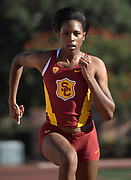 Nov 2, 2017; Los Angeles, CA, USA; Southern California Trojans quartermiler Kyra Constantine during workout at Cromwell Field.