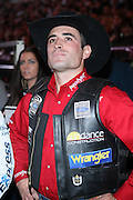 Guilherme Marchi at The Professional Bull Rider's Built Ford Tough Invitational Draft held at Madison Square Garden on January 9, 2009 in New York City..The format of the Built Ford Tough Invitational consists of four rounds of competition with the first three rounds featuring the top 45 qualified riders randomly matched against the sport's rankest bulls.