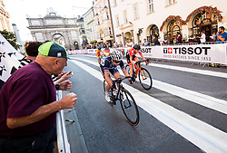 CORDON RAGOT Audrey of France, TAZREITER Angelika of Austria in Innsbruck's centre during the Women's Elite Road Race a 156.2km race from Kufstein to Innsbruck 582m at the 91st UCI Road World Championships 2018 / RR / RWC / on September 29, 2018 in Innsbruck, Austria. Photo by Vid Ponikvar / Sportida