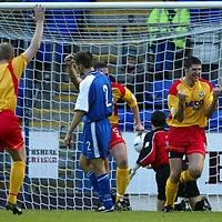 St Johnstone v Ayr Utd..  16.11.02<br />David Craig celebrates his goal<br /><br />Pic by Graeme Hart<br />Copyright Perthshire Picture Agency<br />Tel: 01738 623350 / 07990 594431